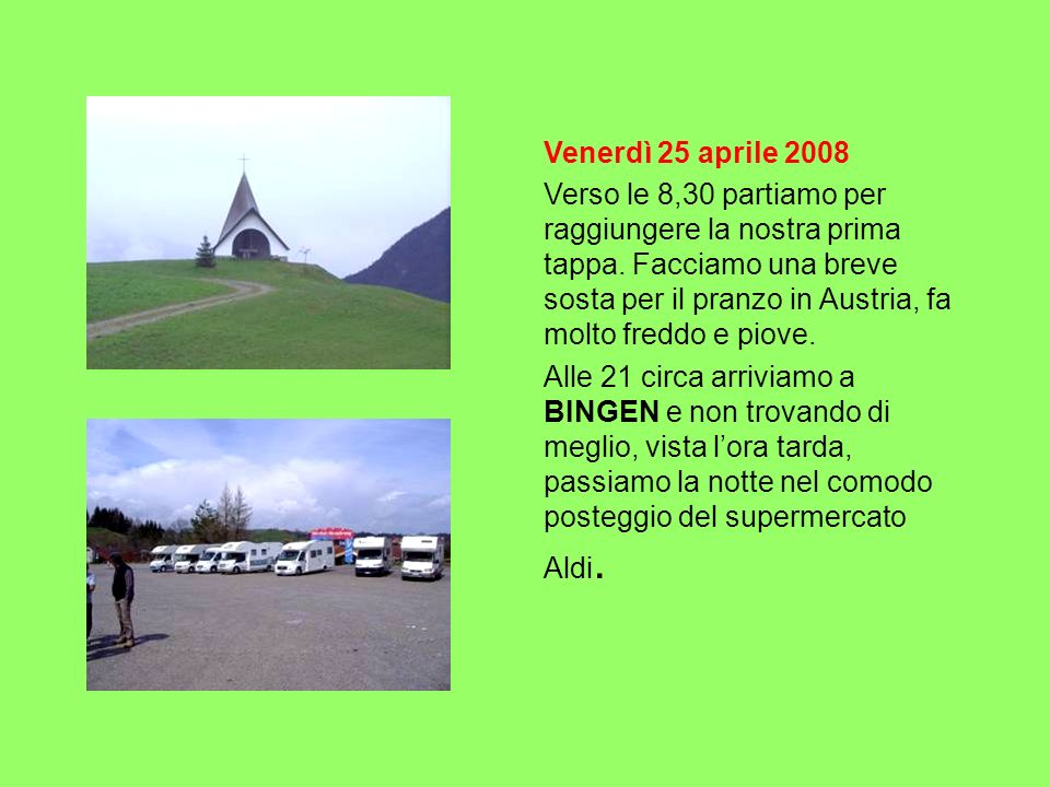 Venerdì 25 aprile 2008