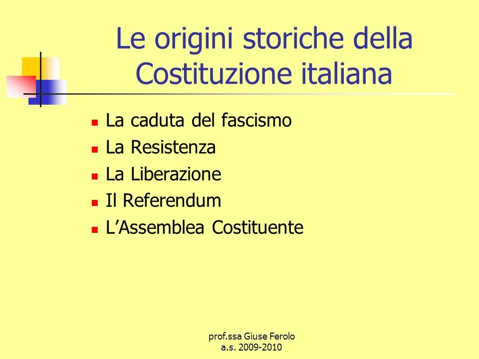 Le origini storiche della Costituzione italiana