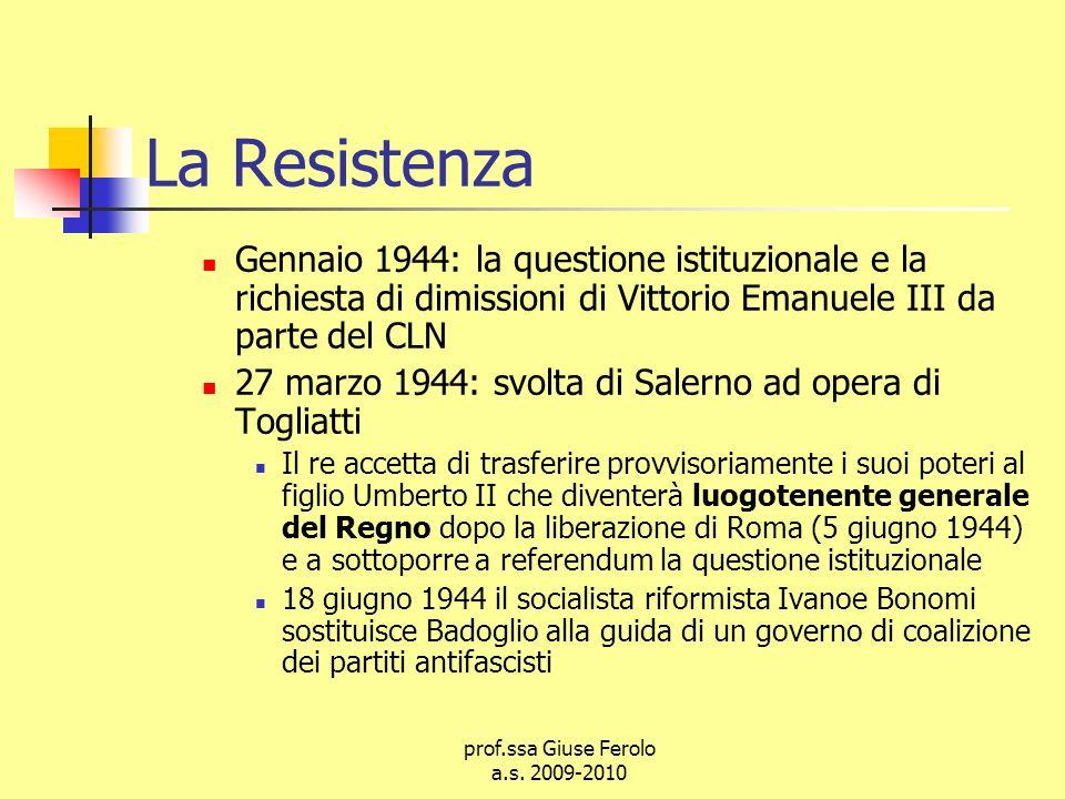 prof.ssa Giuse Ferolo a.s. 2009-2010