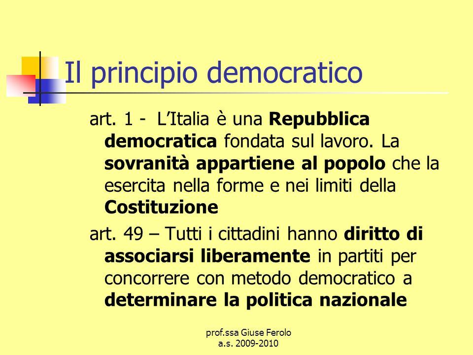 Il principio democratico