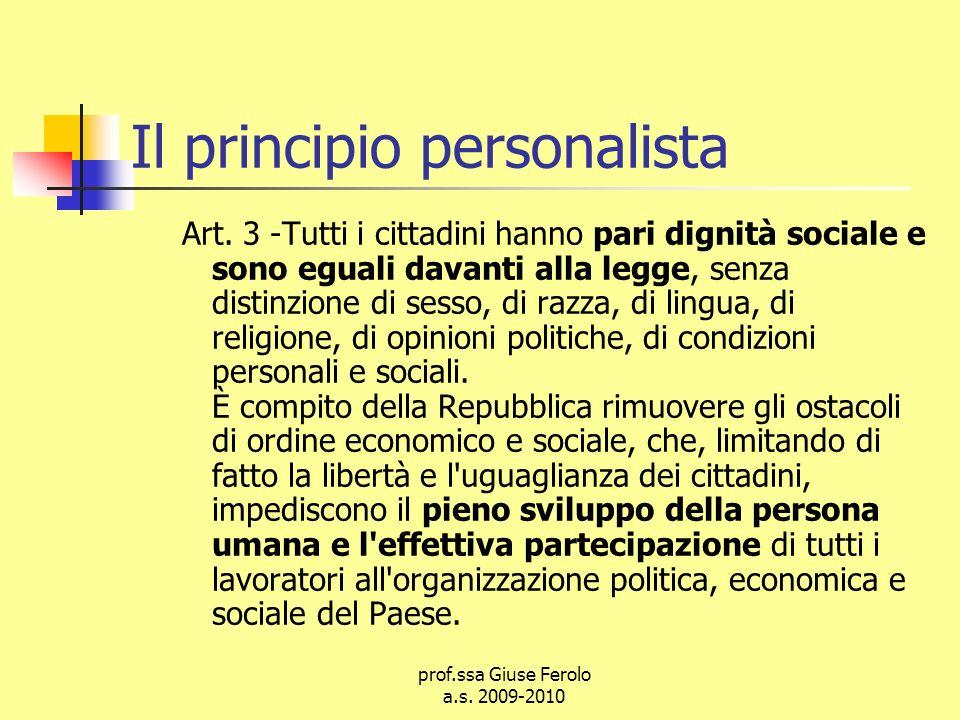 Il principio personalista