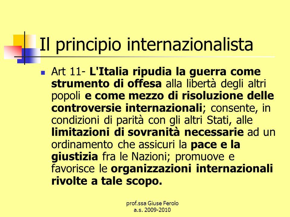 Il principio internazionalista