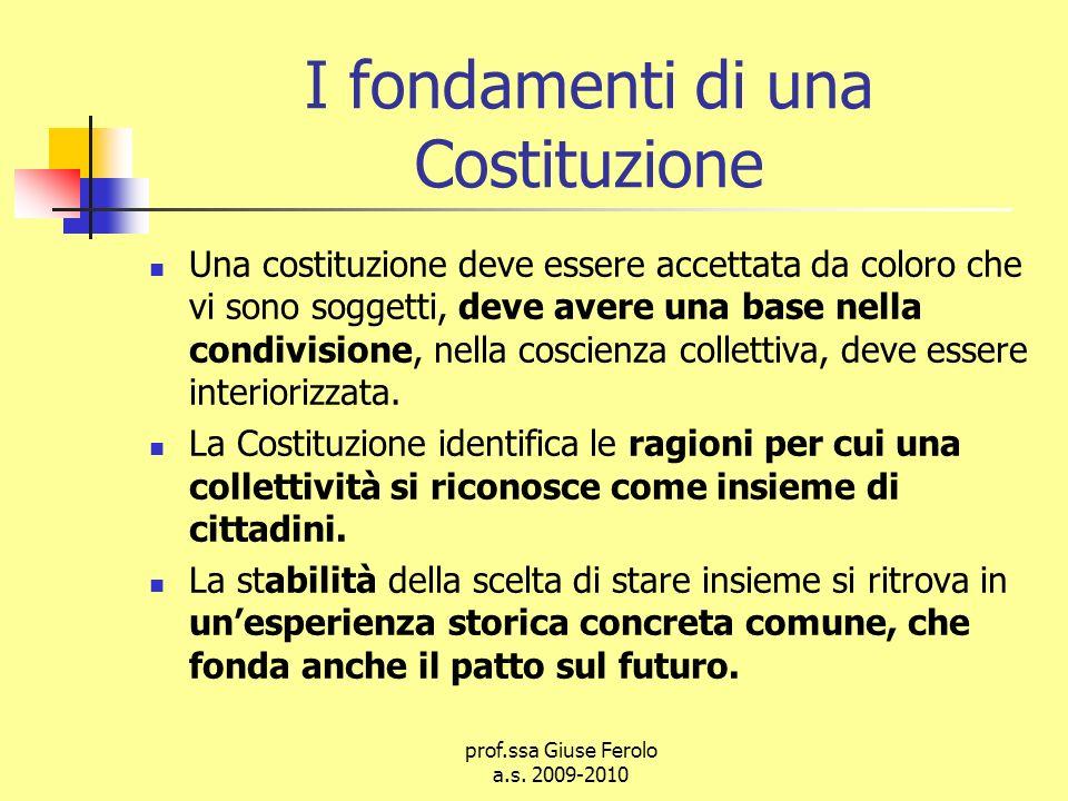 I fondamenti di una Costituzione