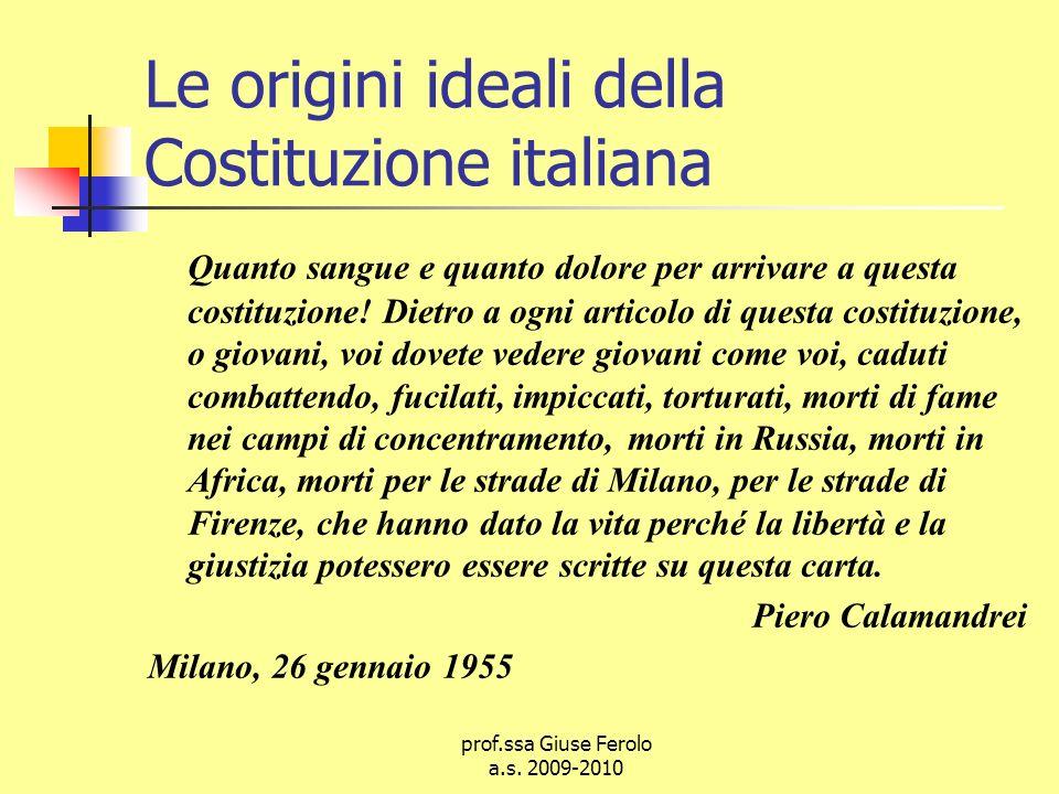 Le origini ideali della Costituzione italiana