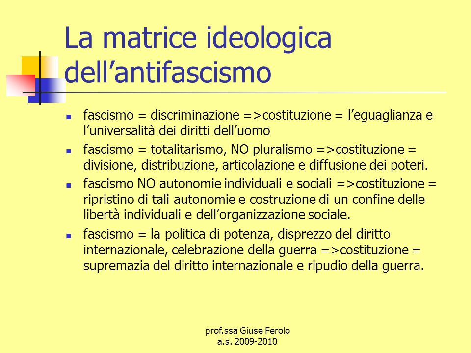 La matrice ideologica dell'antifascismo