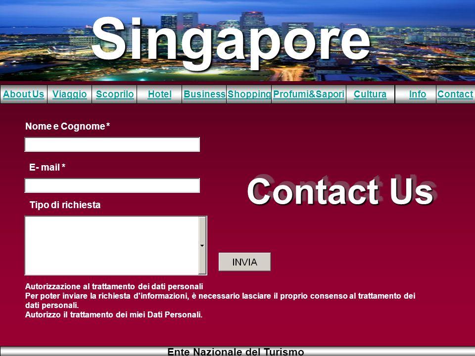 Contact Us Nome e Cognome * E- mail * Tipo di richiesta