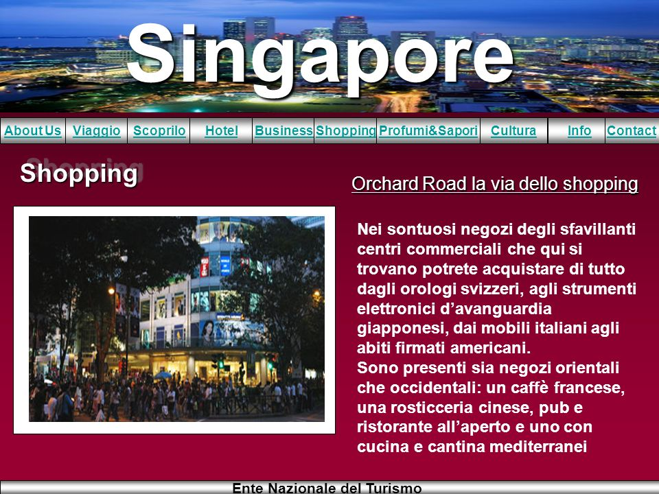 Orchard Road la via dello shopping