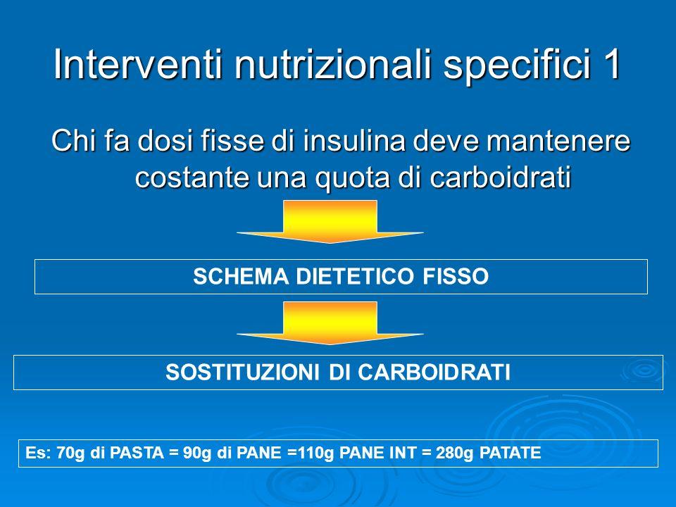 Interventi nutrizionali specifici 1