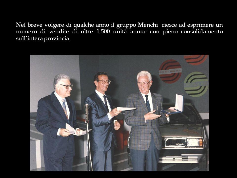Nel breve volgere di qualche anno il gruppo Menchi riesce ad esprimere un numero di vendite di oltre 1.500 unità annue con pieno consolidamento sull'intera provincia.