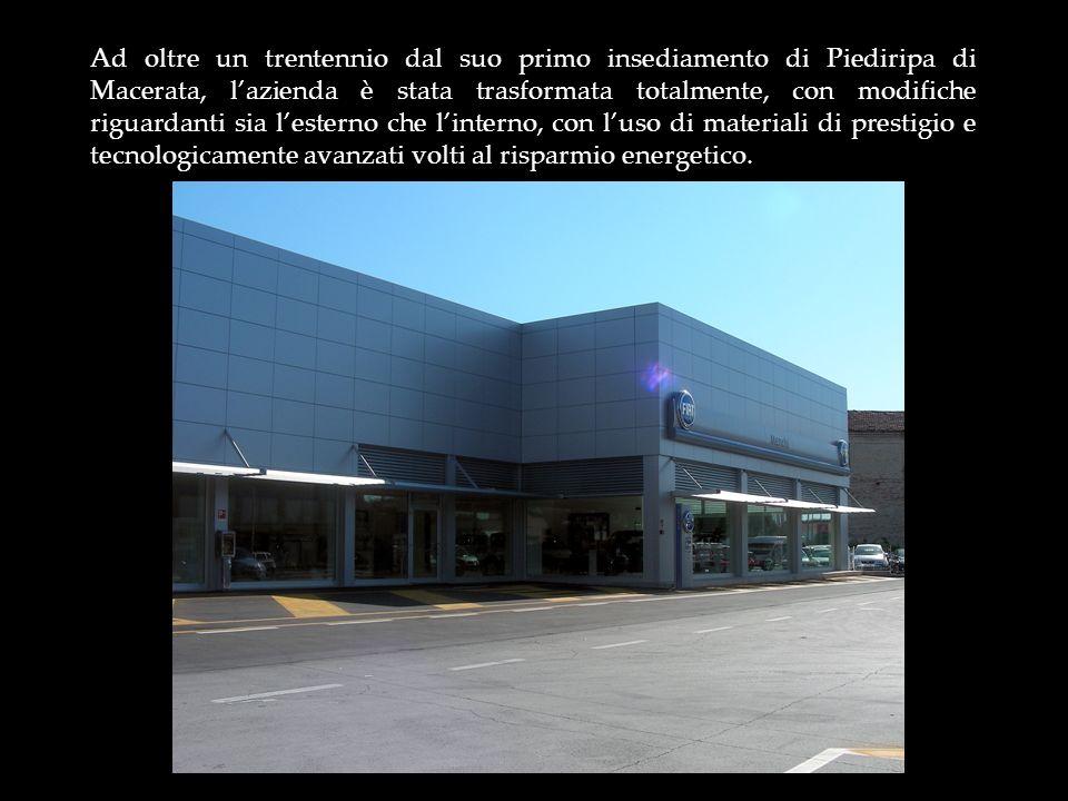 Ad oltre un trentennio dal suo primo insediamento di Piediripa di Macerata, l'azienda è stata trasformata totalmente, con modifiche riguardanti sia l'esterno che l'interno, con l'uso di materiali di prestigio e tecnologicamente avanzati volti al risparmio energetico.