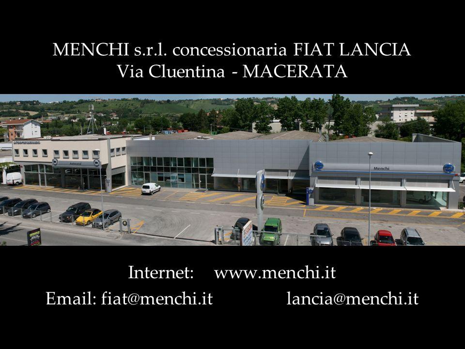 MENCHI s.r.l. concessionaria FIAT LANCIA Via Cluentina - MACERATA