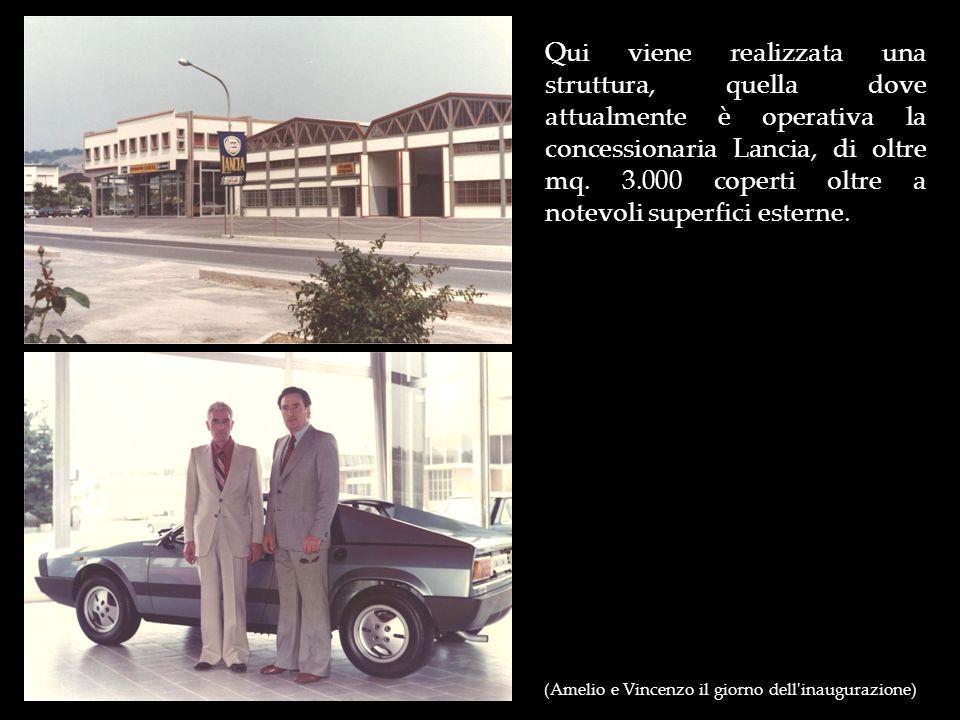 Qui viene realizzata una struttura, quella dove attualmente è operativa la concessionaria Lancia, di oltre mq. 3.000 coperti oltre a notevoli superfici esterne.