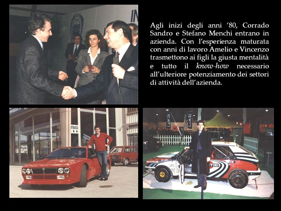 Agli inizi degli anni '80, Corrado Sandro e Stefano Menchi entrano in azienda.