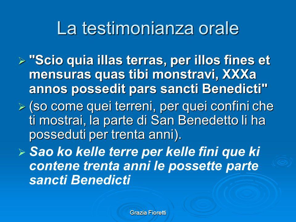 La testimonianza orale