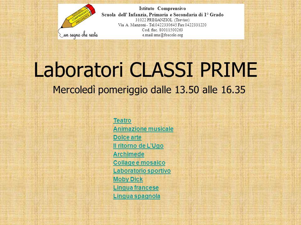 Laboratori CLASSI PRIME