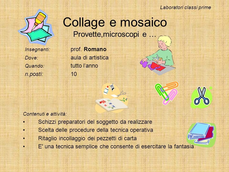 Collage e mosaico Provette,microscopi e …
