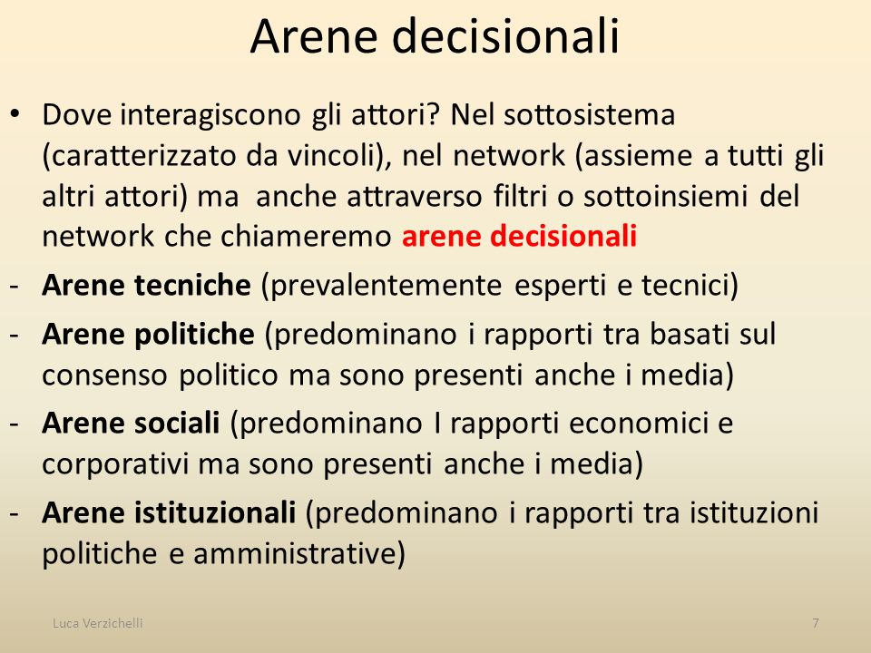 Arene decisionali