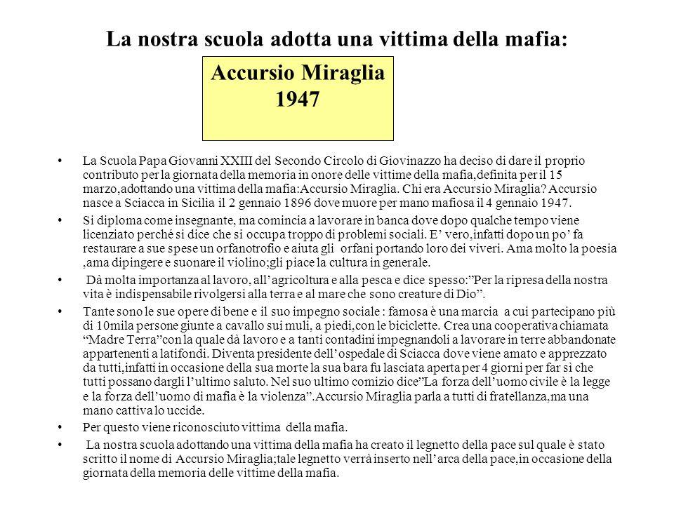 La nostra scuola adotta una vittima della mafia: