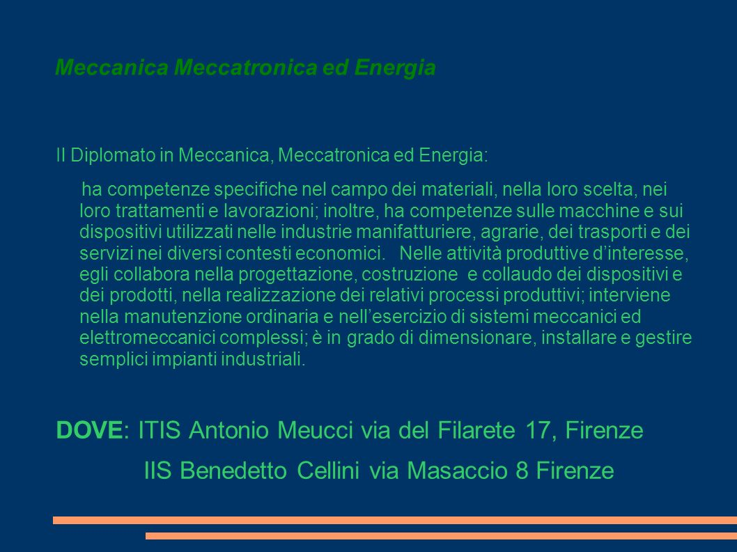 Meccanica Meccatronica ed Energia