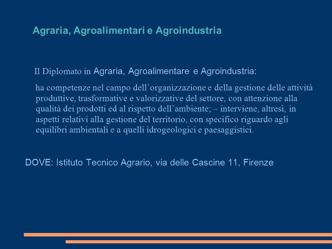 Agraria, Agroalimentari e Agroindustria