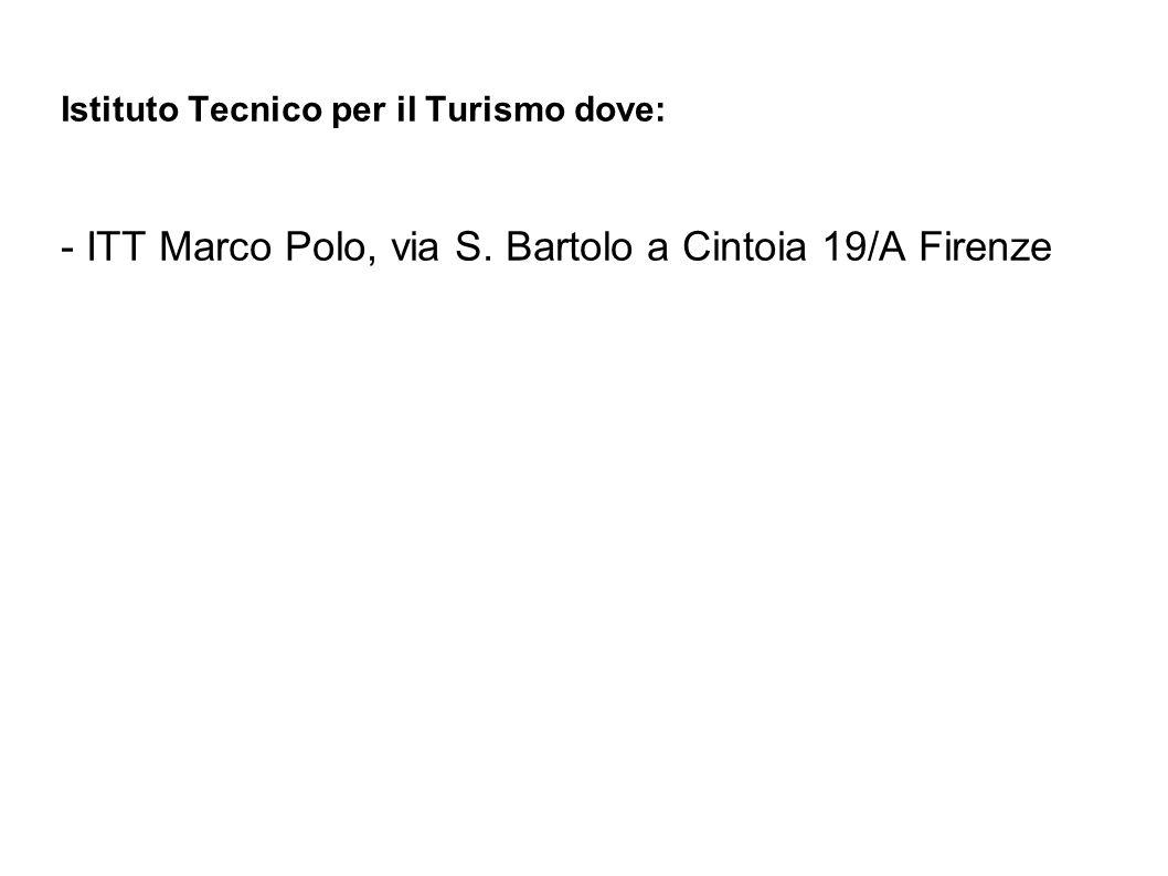 - ITT Marco Polo, via S. Bartolo a Cintoia 19/A Firenze