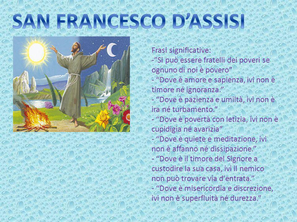 Frasi Di Natale Di San Francesco.San Francesco D Assisi