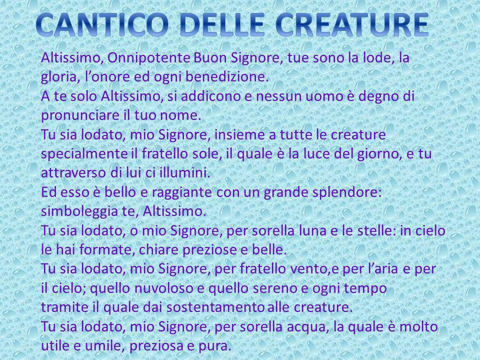 CANTICO DELLE CREATURE