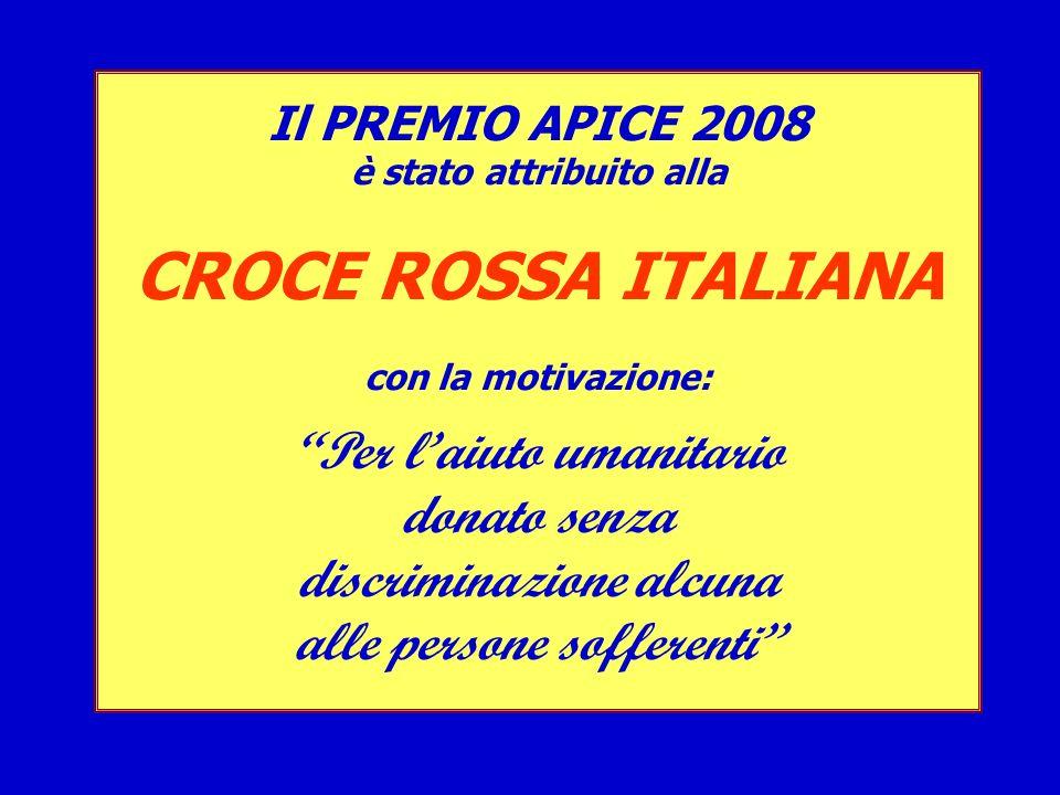 CROCE ROSSA ITALIANA Per l'aiuto umanitario donato senza