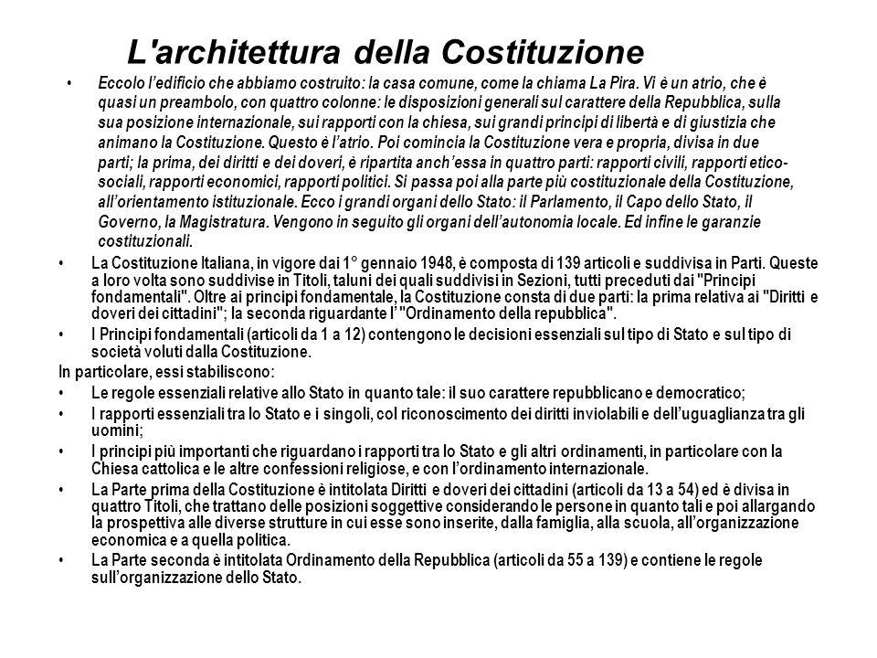 L architettura della Costituzione