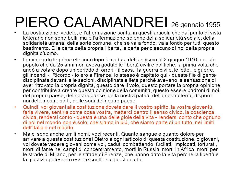 PIERO CALAMANDREI 26 gennaio 1955
