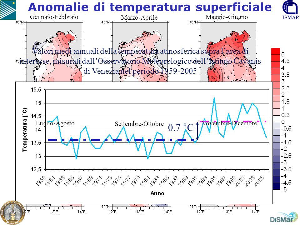 Anomalie di temperatura superficiale