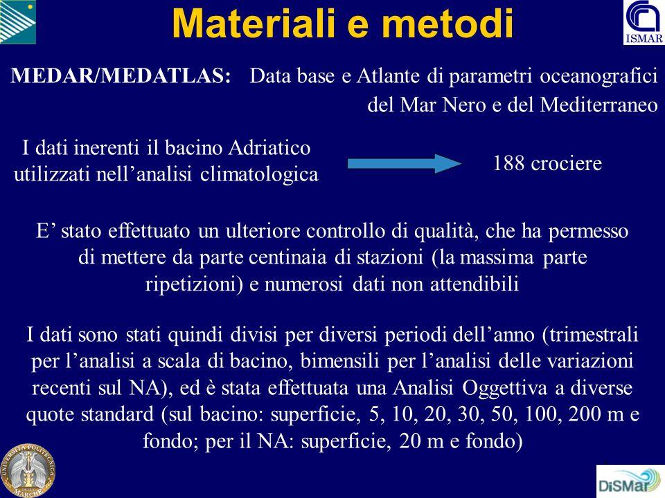 Materiali e metodi MEDAR/MEDATLAS: