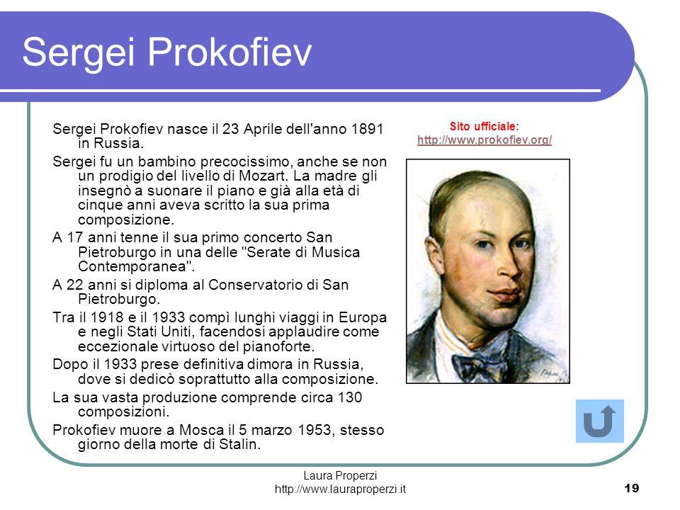 Sito ufficiale: http://www.prokofiev.org/