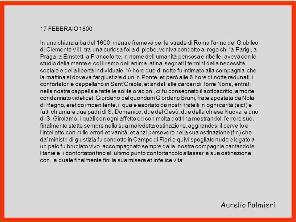 Aurelio Palmieri 17 FEBBRAIO 1600