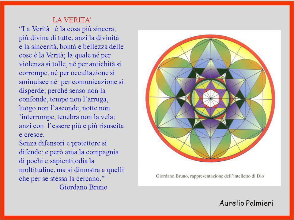LA VERITA' La Verità è la cosa più sincera, più divina di tutte; anzi la divinità.