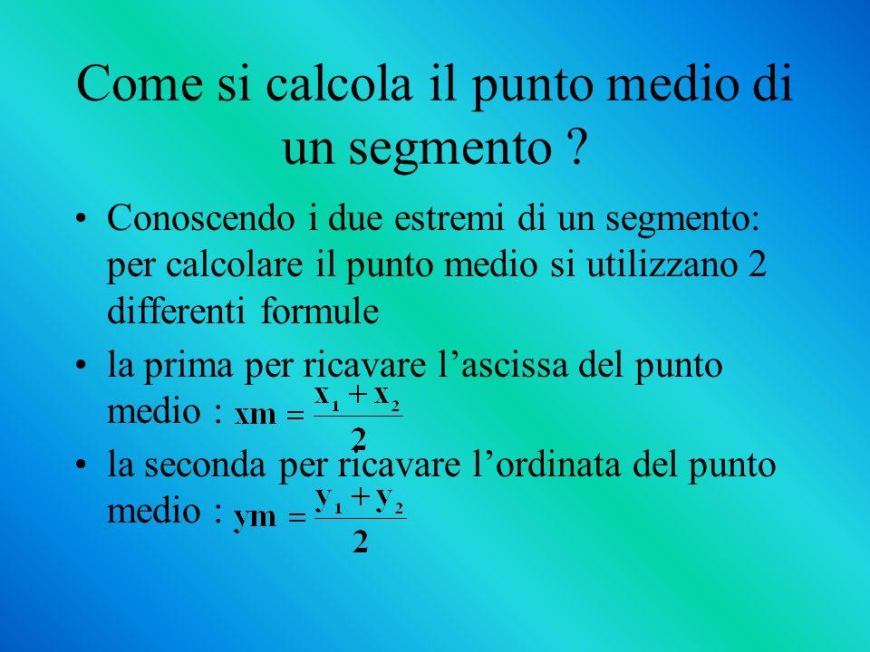 Come si calcola il punto medio di un segmento