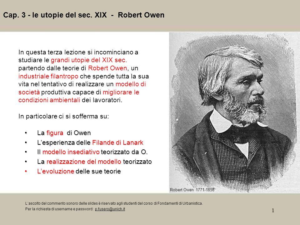 Cap. 3 - le utopie del sec. XIX - Robert Owen
