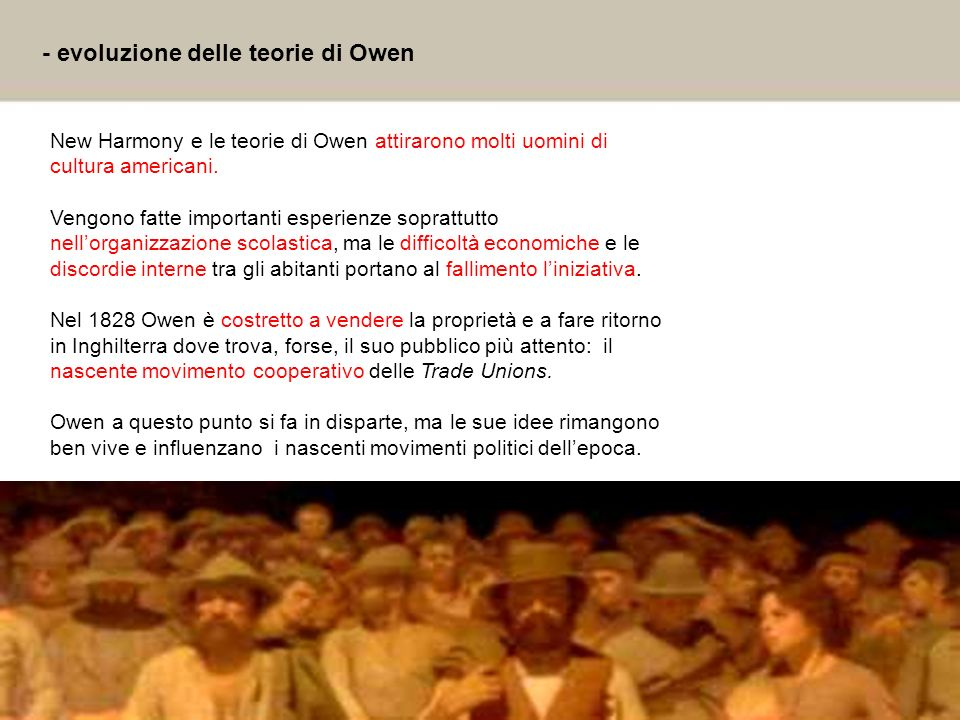 - evoluzione delle teorie di Owen