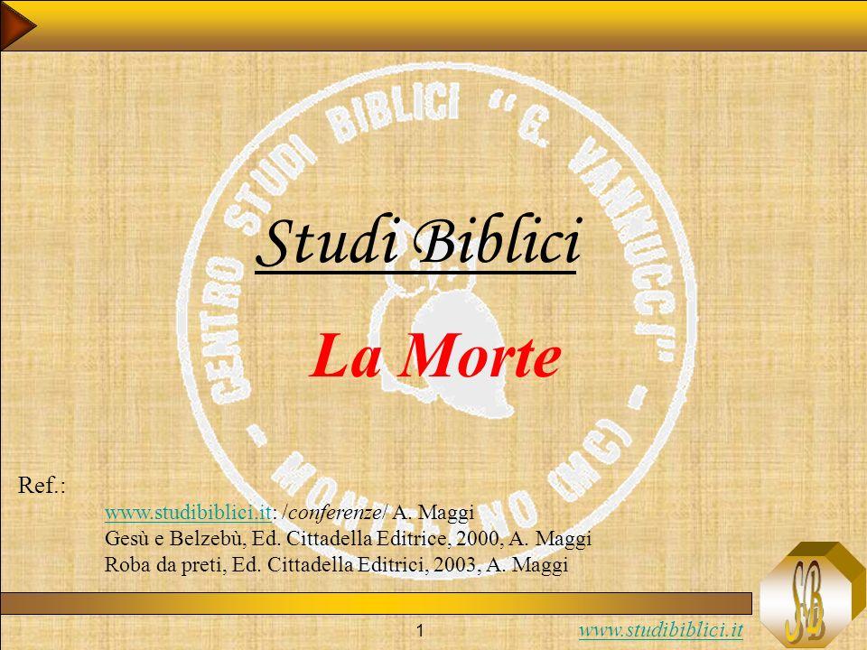Studi Biblici La Morte Ref.: