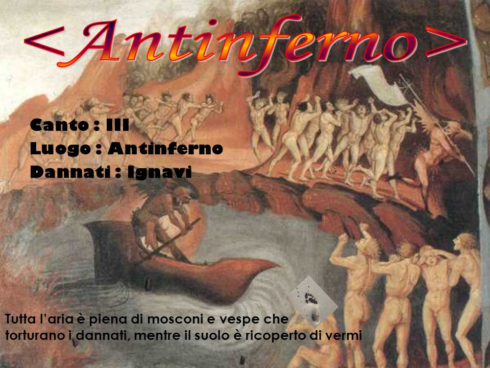 <Antinferno> Canto : III Luogo : Antinferno Dannati : Ignavi