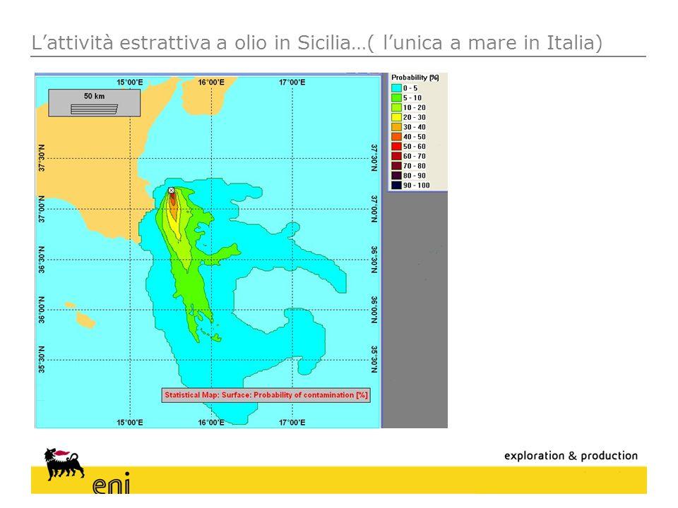 L'attività estrattiva a olio in Sicilia…( l'unica a mare in Italia)