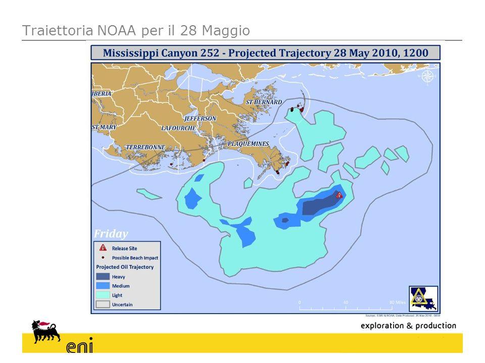 Traiettoria NOAA per il 28 Maggio