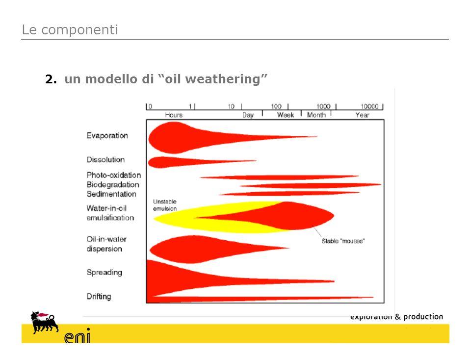 Le componenti un modello di oil weathering