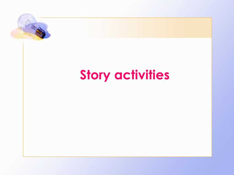 Story activities