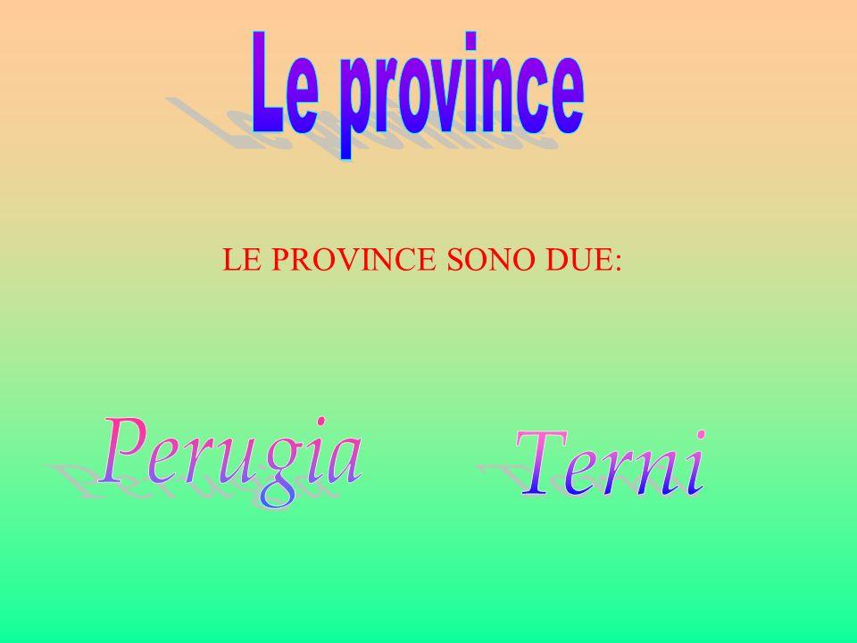 Le province LE PROVINCE SONO DUE: Perugia Terni
