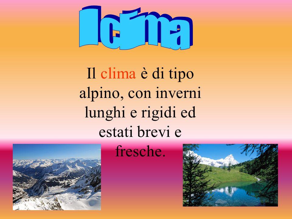 Il clima Il clima è di tipo alpino, con inverni lunghi e rigidi ed estati brevi e fresche.