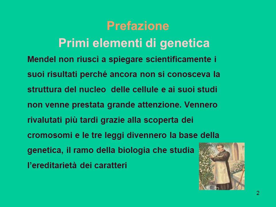 Primi elementi di genetica