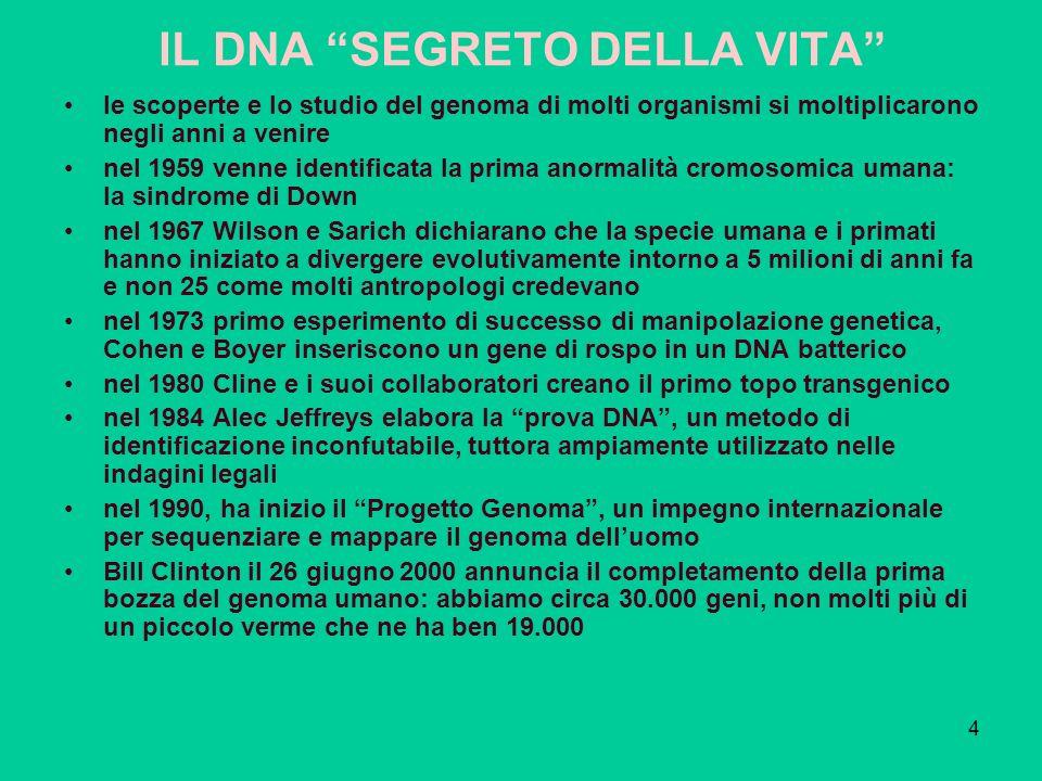 IL DNA SEGRETO DELLA VITA