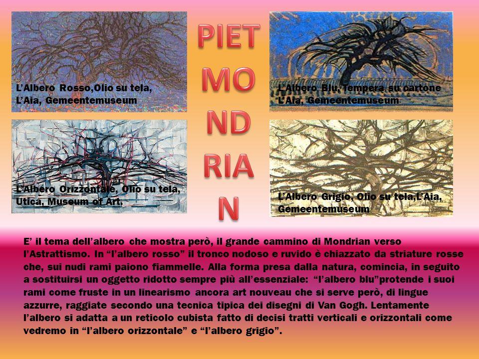 PIET MONDRIAN L'Albero Rosso,Olio su tela, L'Aia, Gemeentemuseum