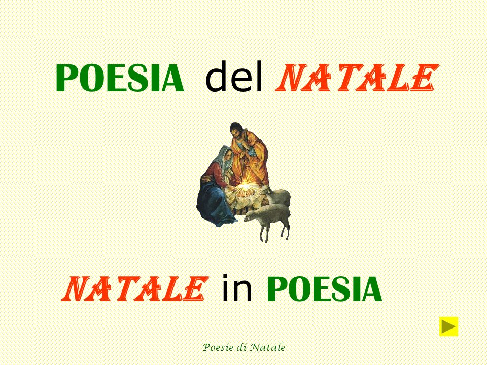 Poesie Di Natale 5 Anni.Poesia Del Natale Natale In Poesia Poesie Di Natale